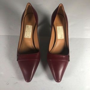 Salvatore Ferragamo Heels burgundy leather Size 8